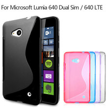 For Microsoft Lumia 640 Case S Line Pattern Flexible TPU Gel Case for Nokia Lumia 640 Dual Sim 640 LTE Soft Phone Cover