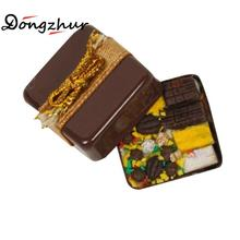 Dongzhur Miniatures Food Box Dolls House Furniture Chocolate Box 1:12 Doll House Accessories Dollhouse Miniature Fast Food Toys(China)