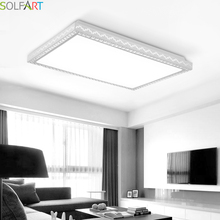 SOLFART lamp ceiling lights surface ceiling modern led chip dimming lights square rectangle ceiling lights  luminaria PS6257-L