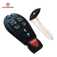 KKmoon Uncut Chrysler Dodge Replacement Fobik Smart Key Fob Keyless Entry Remote