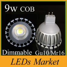 Hot Selling COB 9W Led Lights GU10 E27 GU5.3 MR16 Dimmable Led Spot Bulbs Light Warm/Cool White 720 Lumens CRI>85 11-240V 12V