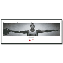 Michael Jordan Wings Art Silk Fabric Poster Print 13x33inch Basketball Sport Picture for Room Wall Decor 065