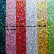 Metallic Embossed Stones Leather Fabric for DIY accessories making handbags shoes bows and so on P1542(China)