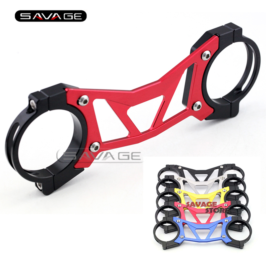 For HONDA CB400 VTEC 2002-2015, CB1300SF 2004-2013 Red BALANCE SHOCK FRONT FORK BRACE Motorcycle Accessories<br>