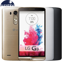 "Original LG G3 LTE Mobile Phone 5.5"" 13MP Quad Core 2GB RAM 16GB ROM Cellphone NFC GPS 4K Video WCDMA WIFI Smartphone(China)"