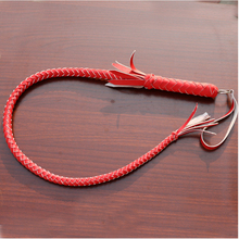 70CM 80CM Genuine Bull Leather Hand Made Braided Riding Whips Horse Racing Equestrian Horse Whip Equitation Cheval Equipment(China)