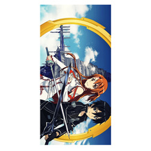 Bamboo Microfiber Sword Art Online Bath Towels Travel Swim Spa Face Hand Towel Kids Adults Baby Bathroom Wash Cloth 35*70CM