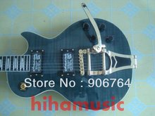 Brand new arrival guitars Gray standard beauty Bigsby tremolo Electric guitar 2 pickups free shipping