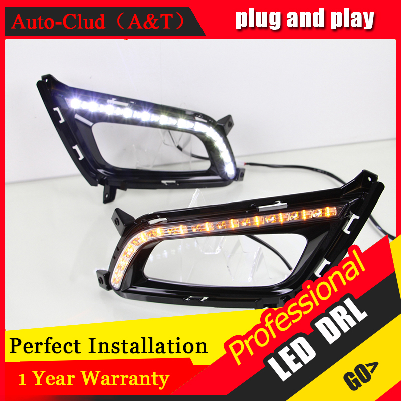 Auto Clud car styling For Kia K5 LED DRL For Kia K5 led fog lamps daytime running light High brightness guide LED DRL<br><br>Aliexpress
