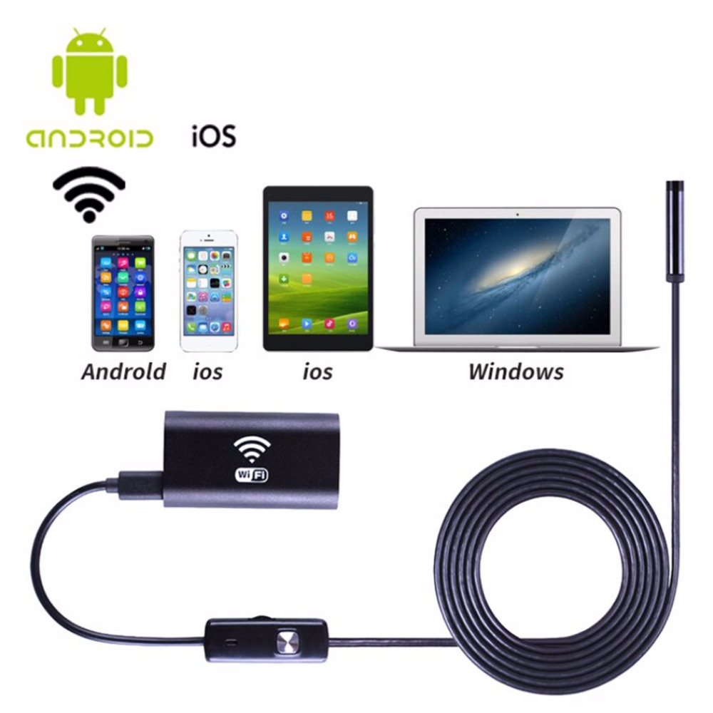 1M/1.5M/2M/3.5M/5M Universal HD 720P Waterproof Mobile Phones Endoscope Inspection Wireless Borescope Camera For IOS For Android<br>