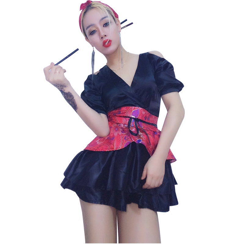 New Sexy Female Singer Outfit Red Shiny Jazz Dance Wear Dj Nightclub Dress Costume Women Stage Costumes For Singers Dance (2)