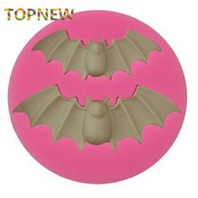 Halloween Bats Silicone Mold Hallowmas Fondant Cake Decorating Mold Sugarcraft Food Safe Polymer Clay Resin Cookie Butter