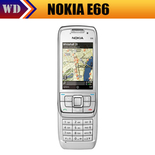 Original Nokia E66 Unlocked 3G Mobile Phone WIFI GPS Bluetooth Russian Keyboard Cell Phone In Stock Singapore Freeshipping