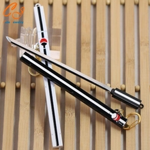 Naruto Keychain Naruto Sasuke Grass Pheasant Sword Weapon / 17 cm White Black Cartoon Grass Pheasant Sword Sheath Knife Keychain
