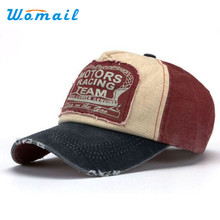 Womail Unisex Baseball Cap Cotton Motorcycle Cap For Women men Low Profile Hat Adjustable 2017