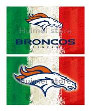 Denver Broncos team FLAG green white red strip American flag 100D Polyester custom Denver Broncos flag banner(China)