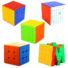 Speed Fantasy 3x3x3 4x4x4 5x5x5 6x6x6 7x7x7 Magic Cubes Keyring Puzzle Keychain Speed Toy Layers 4*4*4 Magic Cube Gift