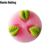X083 silicone fondant sugar Mini leaves mold process mold silicone mold cooking tools
