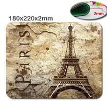 Hot fashion and durable quick game scenery of the Eiffel Tower in Paris gamers notebook mouse pad used in offices and homes