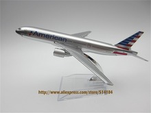 16cm Alloy Metal Airplane Model Air American AA Airlines Plane Model Boeing 777 B777 Airways Aircraft Mode Kids Gift(China)