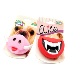 New Funny Soft Rubber Vampire and Pink Pig Dog Toys Pet Puppy Chew Squeaker Squeaky Rubber Sound Toys