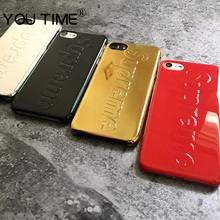 YOUTIME Luxury Suprem Case For iPhone 7 7 Plus 6 6s Fashion Shockproof Hard PC Cover Coque Capa high quality popular young