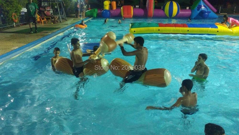 HTB1apraRpXXXXXrXXXXq6xXFXXXh - 4 Pieces/set Joust Pool Float Game Inflatable Water Sports Bumper Toys For Adult Children Party Gladiator Raft Kickboard Piscina