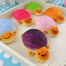 New Adorable Jumbo Squishy Bread Scented Tortoise Phone Charms Bun Soft Straps Toys Appetitive Toys Gift(China)
