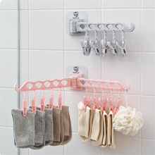 Sticky Hooks Multifunction Clothes Storage Rack Adhesive Bathroom Kitchen Wall Door Hanging Towl Sundries Storage Holder