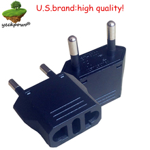 U.S.Brand high quality! 2 pcsUS to EU Plug adaptor plug convertor plug adaptor Travel Adapter  US to EU Power Converter