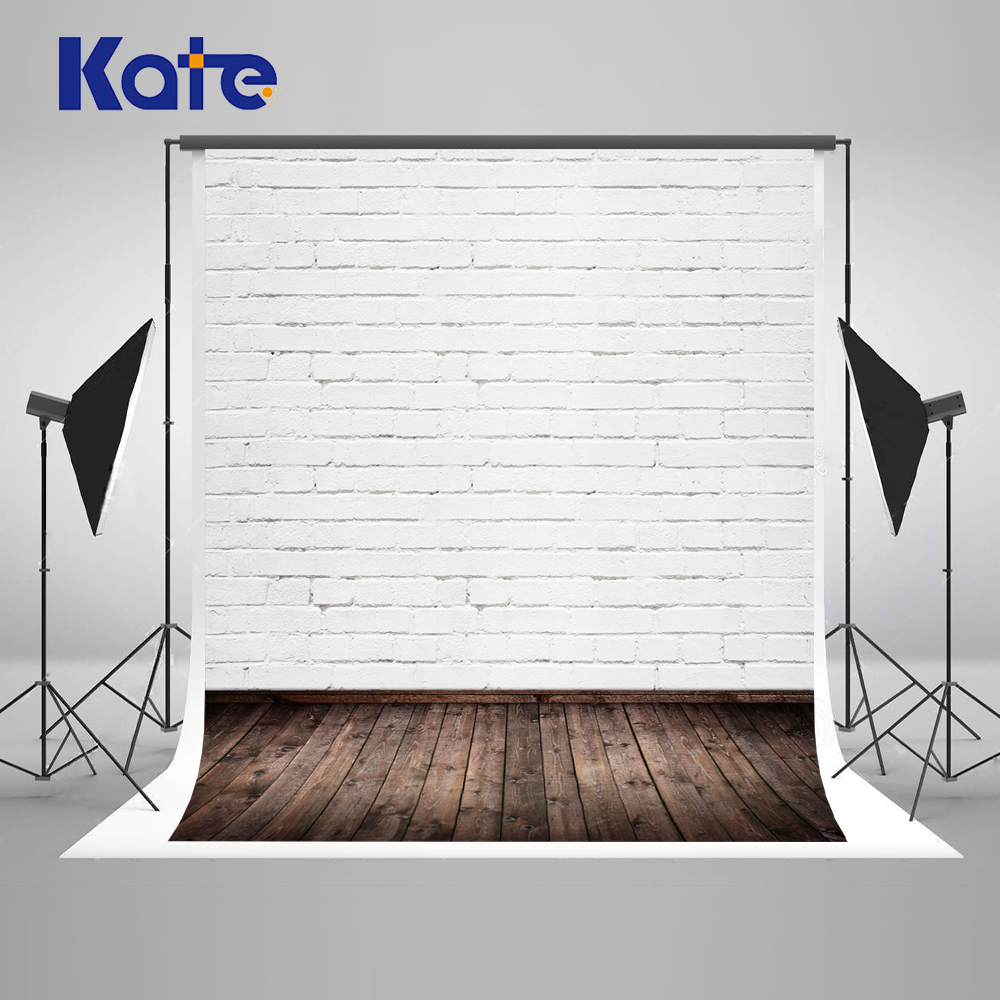 Kate White Brick Wall Backdrops For Photography Studio Wood Wall Children Photo Backgrounds Seamless Photography Backdrops White<br>