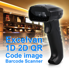 Excelvan BP8610 1D 2D QR Code Image Barcode Scanner Support American keyboard and Minority Language with USB Interface Black