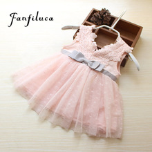 Fanfiluca Very Beautiful Bow Baby Girl Dress Cotton Soft Lace Newborn Body Suit Baby Clothes High Quality