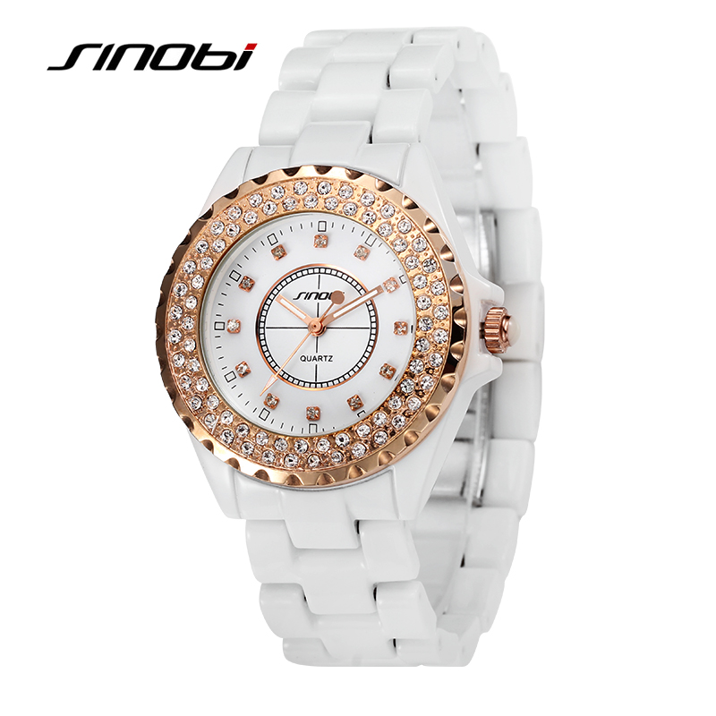 SINOBI Luxury Brand Women Dress Watches Full Steel Quartz Watch Diamonds Gold Watches For Womens Watches Hour relogio feminino<br><br>Aliexpress