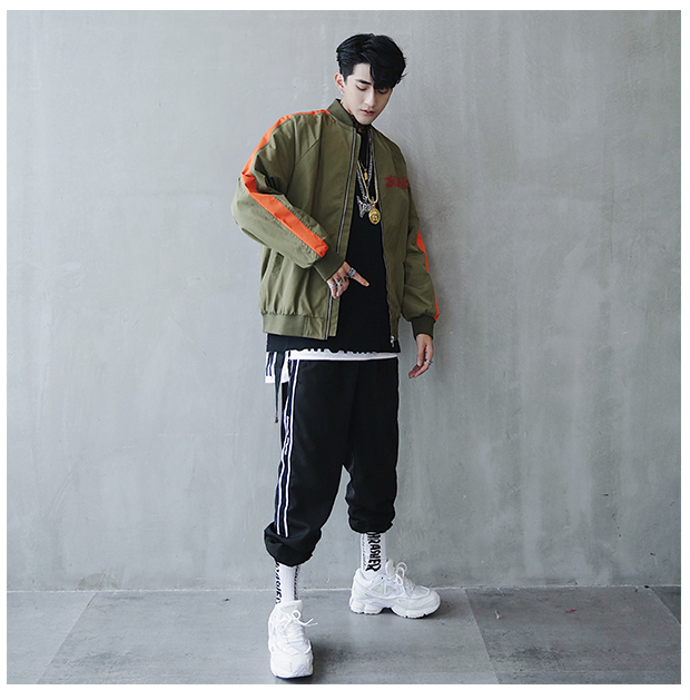 Bomber Jacket Men Pilot Printed Streetwear  (9)