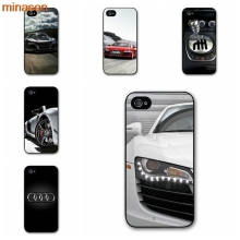 minason Audi R8 Phone Cover case for iphone 4 4s 5 5s 5c 6 6s 7 8 plus samsung galaxy S5 S6 Note 2 3 4 #HE1707(China)