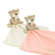 2016 New Baby Hand Towel Infant Newbron Supper Soft Appease Towel Comfort Taggies Blanket Toy Bear Baby Bath Towel