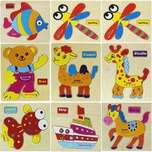 Wooden Blocks Animals Kid Children Educational Toy Cartoon Baby Cute Creative ChildrenToys Gifts Lowest Price Houten Speelgoed