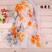 160X50CM 2016 TOP Fashion Elegant Floral Polyester Scarf  Cheap Chiffon Scarves Female 100% Silk Feeling Hijabs Scarf for Lady