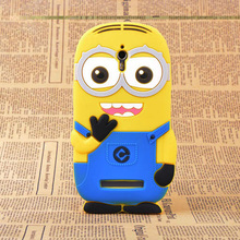 3D Cute Cartoon Despicable Me 2 Minions Soft Silicone Back Cover Case For OPPO Find 7 (X9007) Phone Case