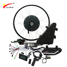 Powerful Electric Bike Ebike Conversion Kit with 48V 20ah Triangle Lithium Battery Rear Motor Wheel Electric Bike Kit 1000W(China)