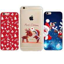 Merry Christmas Case For iphone 7 Case Santa Claus Snowman Back Cover Phone Cases For iphone X 8 6 6S 6/7PLus 5 5S SE