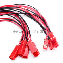Hot 10 Pairs 150mm JST Connector Plug Cable Male+Female for RC Battery