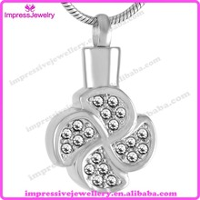 IJD9516 Elegant Flower Cremation Jewelry Ashes Urn Necklace For Keepsake Gift Funeral Pendant(China)