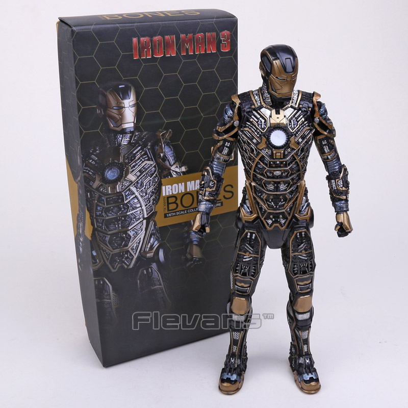Crazy Toys Iron Man 3 Mark XLI BONES MK41 1/6TH Scale PVC Collectible Figure Model Toy 12 30cm<br>