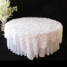 "10 PCS 3D Leaf Table Overlay 85"" 90"" Square 3D Leaf Petal Table Cloth Overlay Customized Petal Table Cloth Free Shipping(China)"