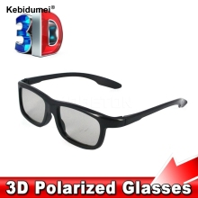 Kebidumei Fahion 3D Polarized Glasses Stereo Glasses Sunglasses Style for Samsung Smart TV for LG for Sony for Sharp TV(China)