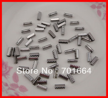 200PCS Silver finish 3mm metal snap buttons with holes and KNK words for elastic ponytail at lead free and nickle free(China)