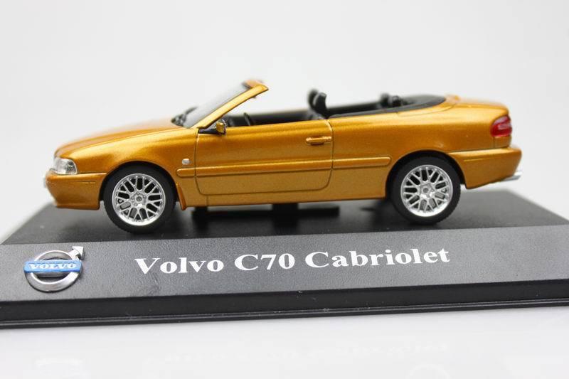 C70 Atlas 1:43 volvo C70 Cabriolet Alloy car models Orange Roadster