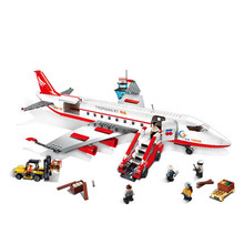 Models building toy 8913 City Large Passenger Plane Airplane 856pcs Building Blocks compatible with lego city toys & hobbies(China)
